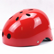 Eco friendly sporting safety novelty glossy red skateboard skating kid bicycle helmet