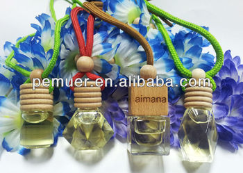 Bottle glass air freshener for car liquid air freshener with fresh fruit scents
