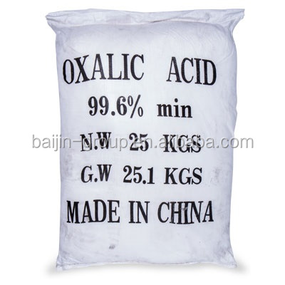 refined oxalic acid 99.6%min used as analysis reagent
