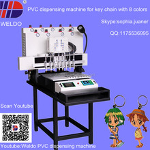 PVC machine to make key chain with 8 colors