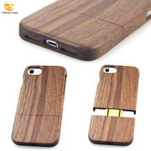Real Natural Cherry Wooden Mobile phone Detachable Phone Cover Blank Wood case for Iphone 7