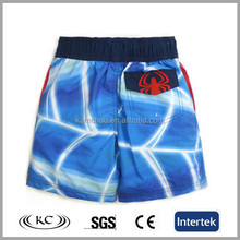 promotional logo imprinting printed beach shorts brand printing spandex swimming shorts