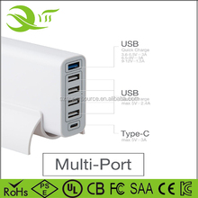 Fast cellphone charger 60W 12A/5V 6 Port USB Travel Wall Charger for iPhone, Samsung, HTC, Nokia