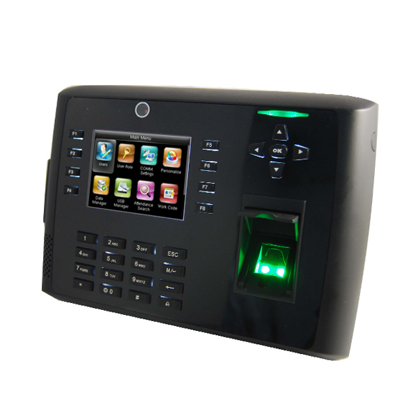 Fingerprint time attendance and access control with built battery and print out function