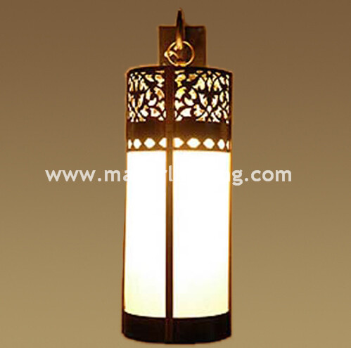 Moroccan style Antique brass wall sconce
