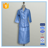 High Quality Embroidery Suits Cheap Women Church Suit