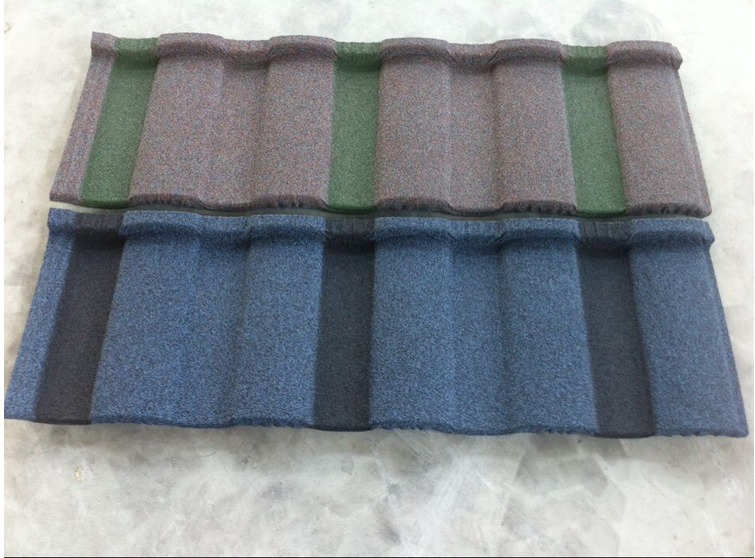 Semi-Cylindrical tiles sun stone coated chip kerala roof tile prices
