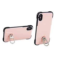 Kickstand soft corner shockproof tpu pc phone case for iphone X