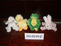 promotional Customized wholesale plush duck/sheep/rabbit/frog farm animal collection toy for Easter festival