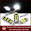 Festoon 5730 31mm/36mm/39mm/42mm car led lighting white Car 194 168 192 W5W LED Light Automobile Bulbs Bulbs