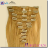 Alibaba Remy Unprocessed No shedding no tangle remy double wefted remy clip hair extensions