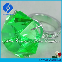 Wholesale Green Stainless Steel Crystal Ideal Diamond Napkin Ring Holder
