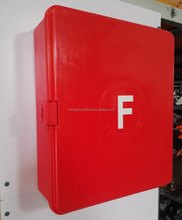 machine pressed Red GRP fire hose cabinet for fire-fighting