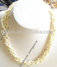 white natural coral necklace fashion coral necklce