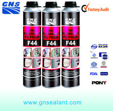 F44 fire retardant PU foam with ISO and TUV certificate and provide excellent seal against smoke and gas