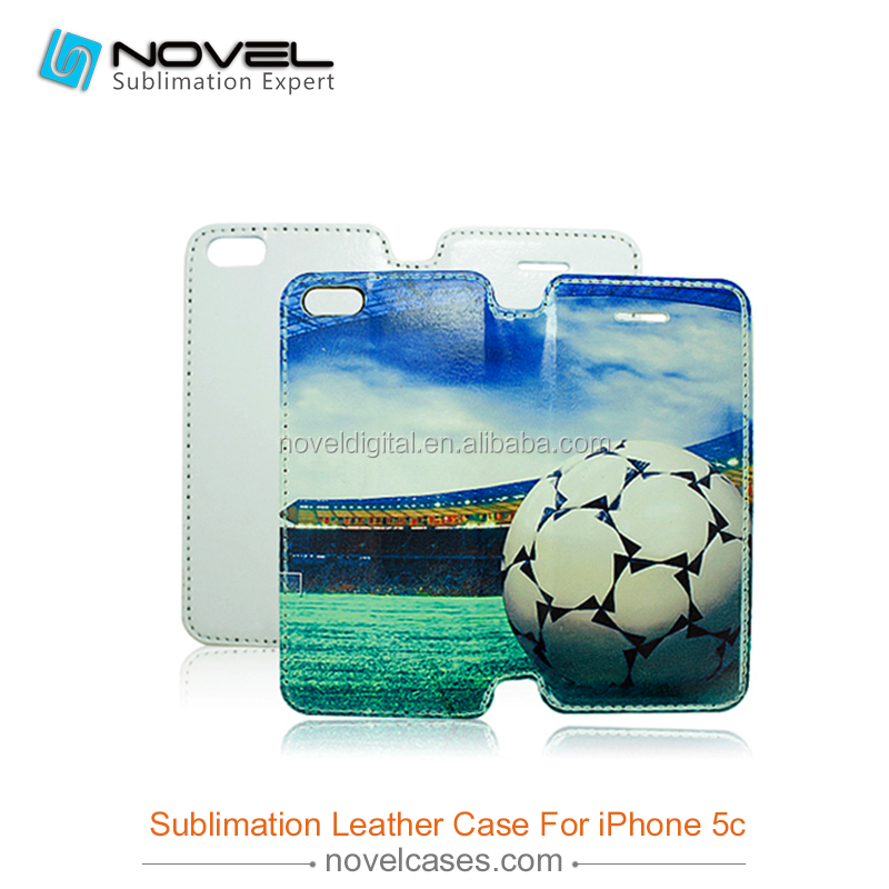 Sublimation full size pu leather phone case for iPhone 5C