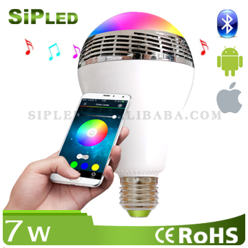Mobile Phone Use and Portable,Wireless Special Feature led bulb bluetooth speaker smart bulb light