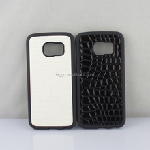 PC +TPU Hybrid Soft Groove Case ,For Samsung S6 edge Groove Case