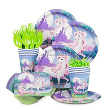 Unicorn Fantasy Birthday Party Standard Paper Tableware