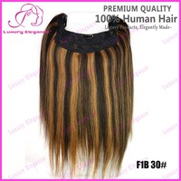 Cheap Wholesale Price 18 Inch One Piece Human Hair Halo Hair Extensions