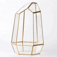 Glass Material Clear Glass Planter Air Plant Geometric Terrarium Container Bubble Vase