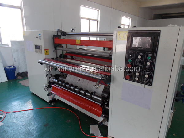 Automatic Small thermal bobbin roll Rewinder &Slitter