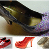 Glitter Fabric Ladies Shoes Raw Material