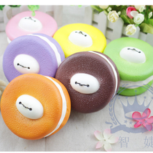 PU Slow Baymax Macaron Cookies squishy squeeze toy factory