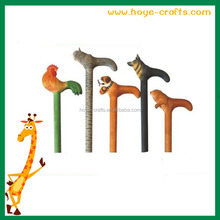 wooden animal shaped carved chicken no retractable walking stick