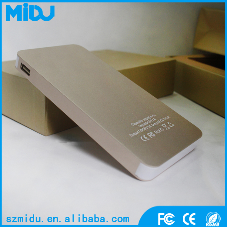 High Capacity Portable External Battery Smartphone Charger 10000mah Power Bank
