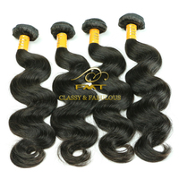 Fashionable body wave brazilian hair soft & dyeable 100% virgin real girl pussy hair