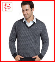 V neck knitted european style korean sweaters for men