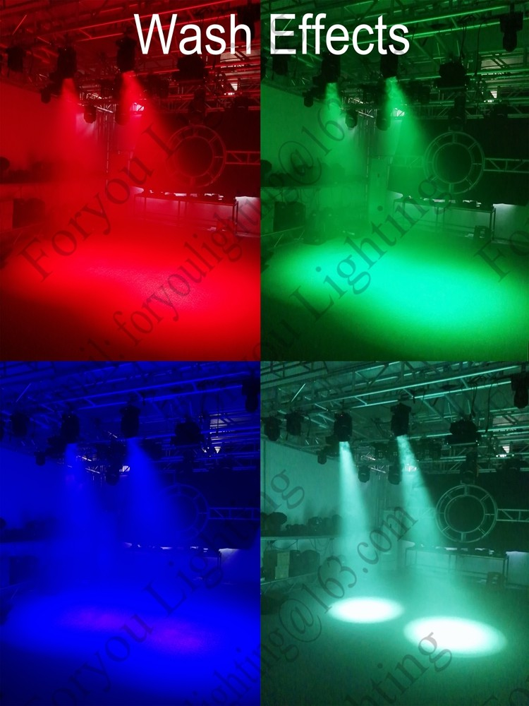 Beam Wash Zoom Function 7*12W QUAD RGBW 4IN1 LED Moving Head Disco Light