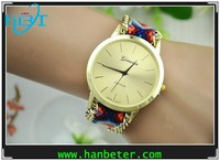 Most Stylish handmade Chain strap korea mini miniature watch with knitted strap