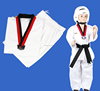 2016 new products custom design antibacterial short sleeve custome taekwondo uniform suits manufacutured in factory