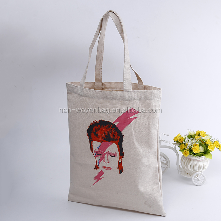 Trump customized funny printed tote style cotton bag for advertisment