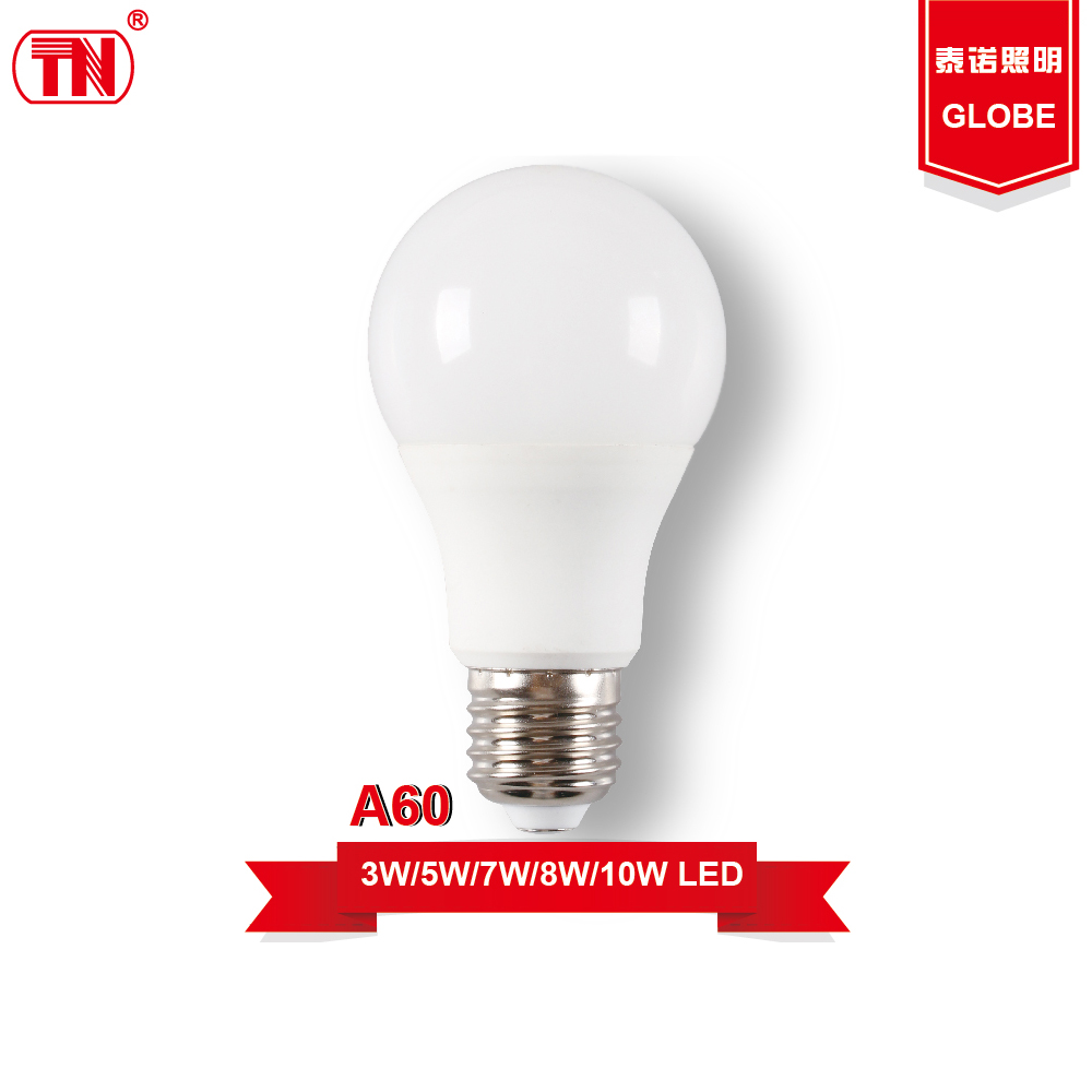 New type a60 led light bulbs 3w 5w 7w 9w 10w e27 Plastic Aluminum