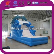 Attractive dolphin inflatable swimming pool slide