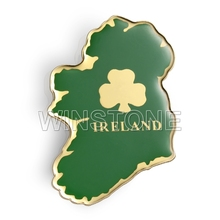 Customized Country Shaped Metal Printed Fridge Magnet