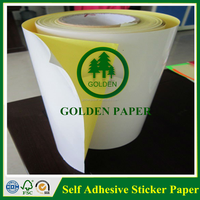 Hi-Glossy Face woodfree paper self adhesive paper