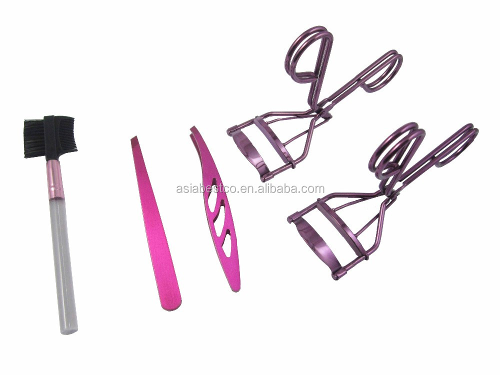 2017 Wholesales Lady Pink Colour Eyebrow Extension Kit Mini Eyelash Curler