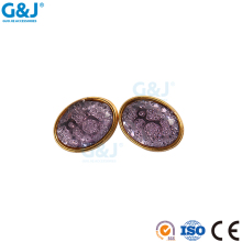Guojie brand quality produce custom design necklace pendent light purple acylic cup with resin stone