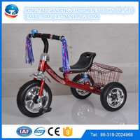 2016 children toys wholesale / baby car / baby tricycle with metal basket