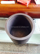 Max grain size 0.8mm high pure graphite crucible for melting metal