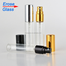 10ml clear perfume glass bottle with pump sprayer