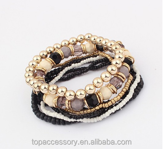 TBC6907-50 2017 Bohemian Summer Style Jewelry Mutilayer Beads Bangles for Women Pulseras Mujer Femme Bracelet