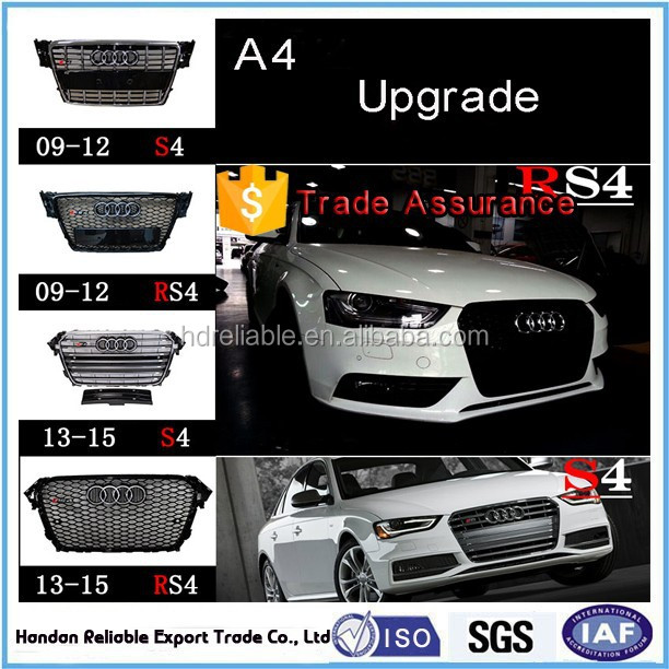 grill for audi a4 b8 . front grille for audi A4 S4 RS4 .a4L chrome front grill for audi