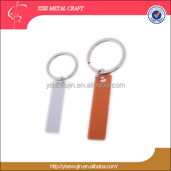 custom cut out metal keychain low cost manufacturing ideas simple design blank key holder stainless steel keyring