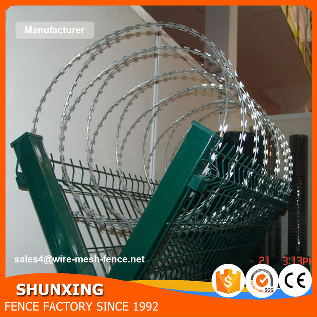 Cheap Price High Security Concertina Razor Barbed Wire With Clips