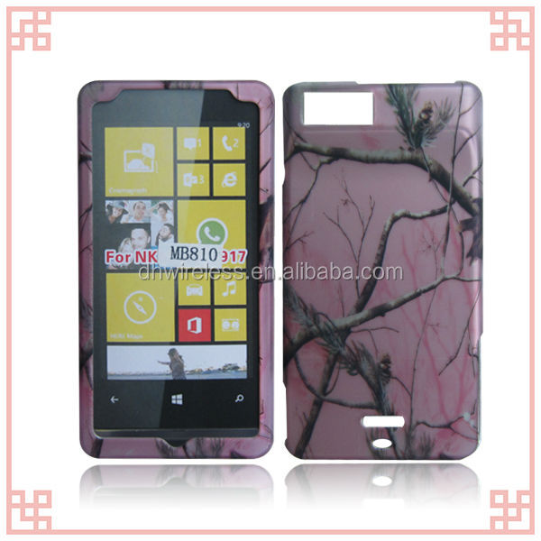pink tree design hard plastic cover case for Motorola Droid X / MB810